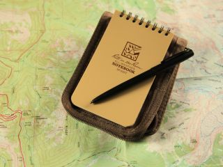 Rite in the Rain Universal 3x5in Kit Tan Cordura® Black All Weather Pen