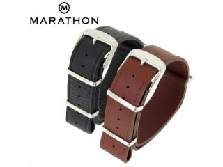 Marathon Leather NATO Strap 22mm