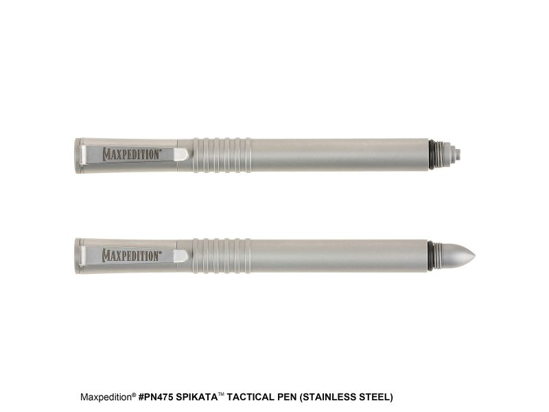 Maxpedition SPIKATA Tactical Pen (Stainless Steel)