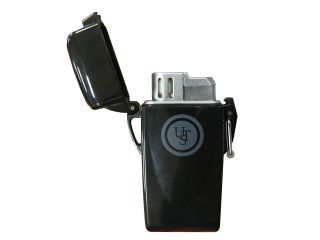 Windmill Floating Waterproof Lighter, Black