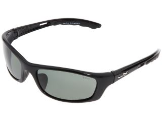 Wiley X P-17 Polarized Green Lens Gloss Black Frame