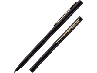 Fisher Space Pen Black Stowaway with Clip and Stylus